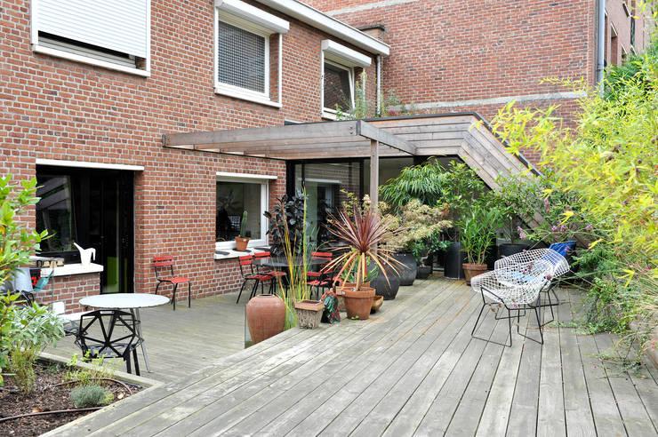 Extension D Une Habitation Et Am Nagement De Sa Terrasse Sur Les Toits Par Happy Architecture
