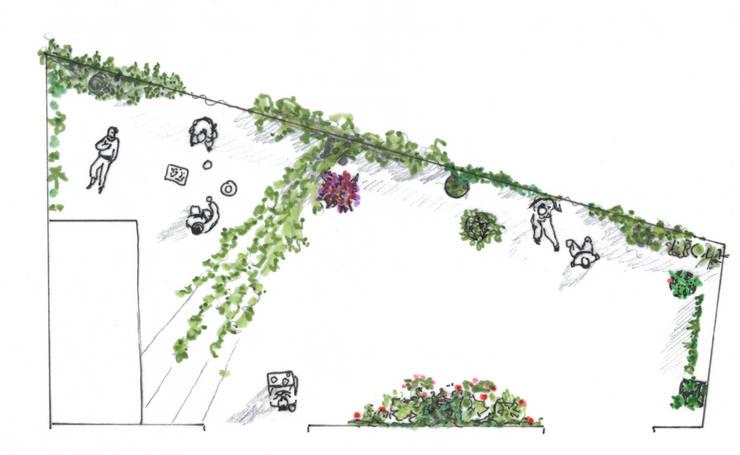 terrasse urbaine toits de marseille de a calu paysagiste concepteur homify. Black Bedroom Furniture Sets. Home Design Ideas