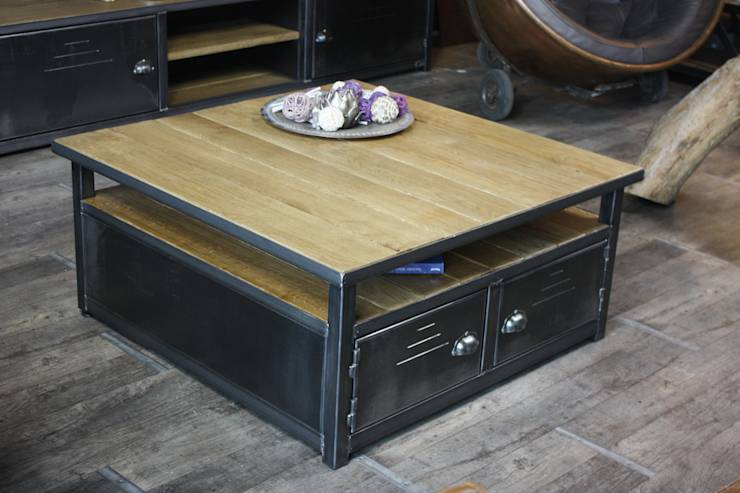 Faire une table basse industrielle - Fabriquer table basse industrielle ...