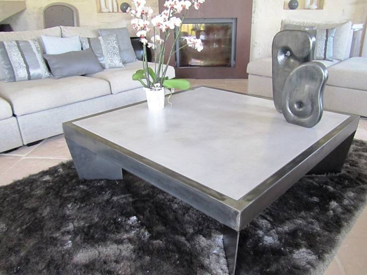 table basse gris souris. Black Bedroom Furniture Sets. Home Design Ideas