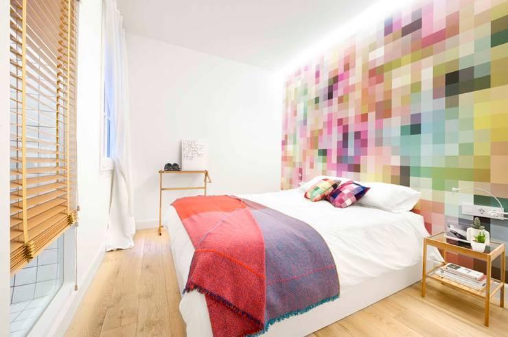 Kleine Slaapkamer Decoreren : scandinavische Slaapkamer door Egue y ...