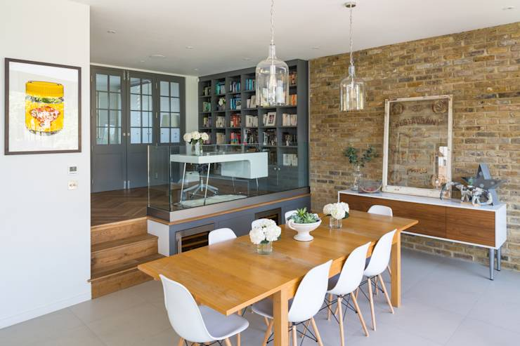 Broadgates Road: modern Living room by Granit Chartered Architects