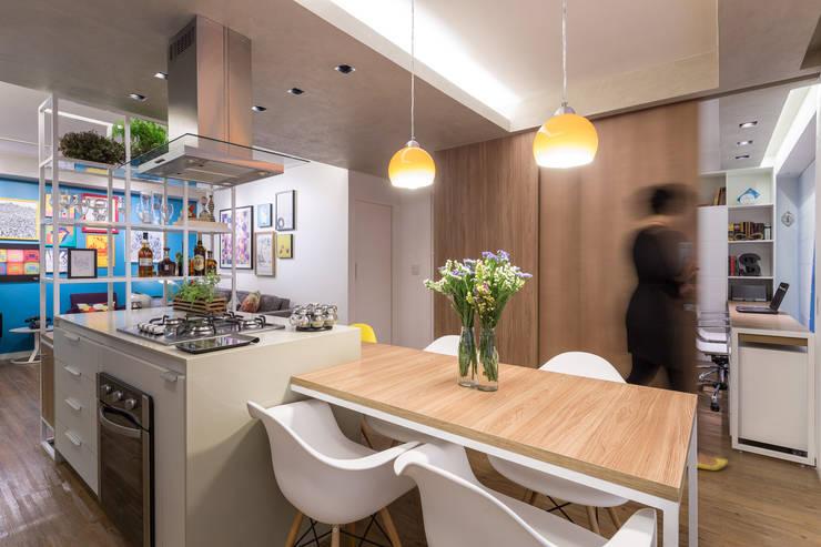 Apartamento Trama: Salas de jantar modernas por Semerene - Arquitetura Interior