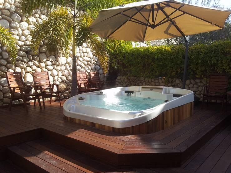 10 spektakul re ideen f r eine terrasse mit whirlpool. Black Bedroom Furniture Sets. Home Design Ideas