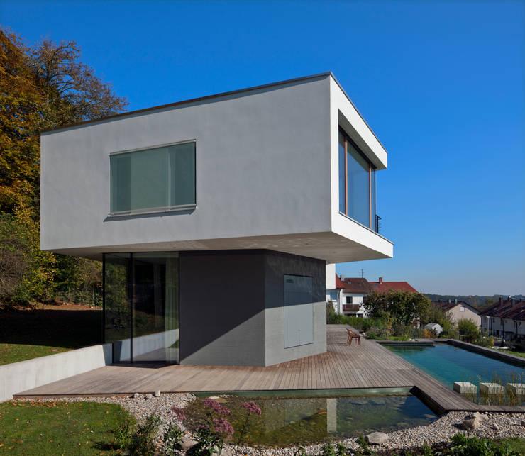Westansicht mit pools moderne häuser von kauffmann theilig partner