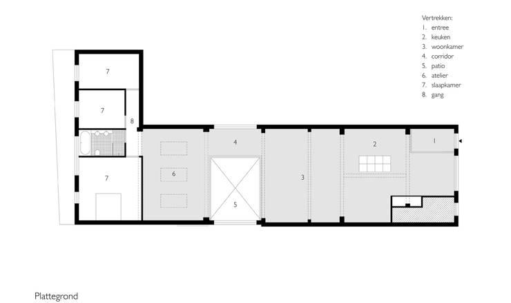 Prima dopo da fatiscente officina a elegante loft for Planimetria di cottage calabash