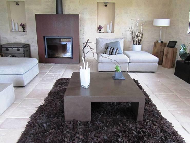 Table basse salon beton cire - Salon beton cire ...