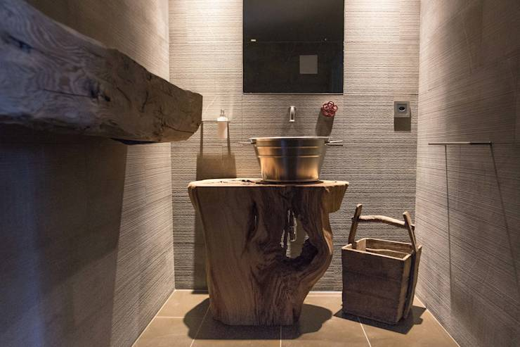 Banheiro r stico mais de 40 ideias para voc se inspirar for Mobile bagno rustico moderno