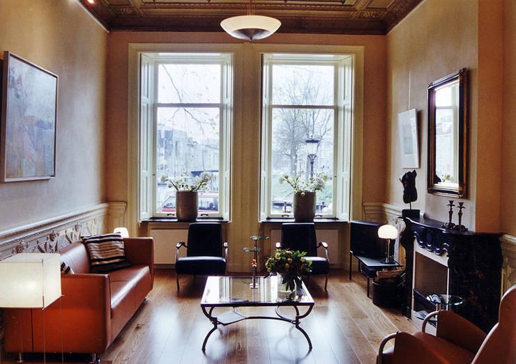 Restauratie van een rijksmonument in utrecht - Deco van woonkamer eetkamer ...