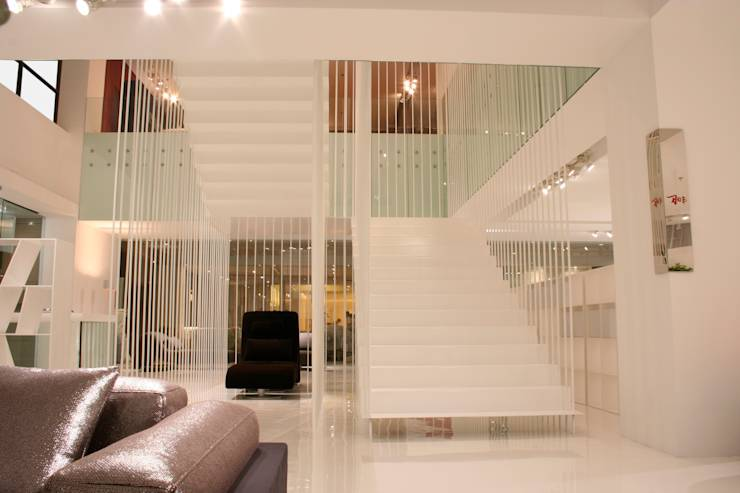 10 dise os de barandales que har n que tu escalera se vea fabulosa. Black Bedroom Furniture Sets. Home Design Ideas
