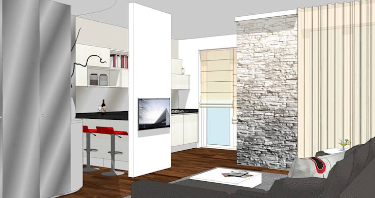 ... : La cucina affacciata sul soggiorno unire o dividere di forme per