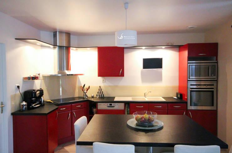 10 splendides cuisines rouges. Black Bedroom Furniture Sets. Home Design Ideas