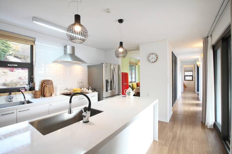 translation missing: eg.style.مطبخ.modern مطبخ تنفيذ 주택설계전문 디자인그룹 홈스타일토토