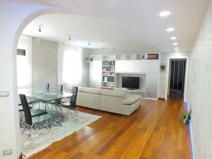 Colori pittura pareti effetto sabbiato camera da letto - Camera da letto con parquet ...