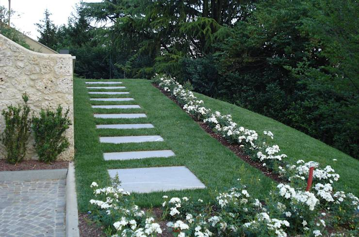7 chemins modernes pour votre jardin - Architettura esterni giardini ...