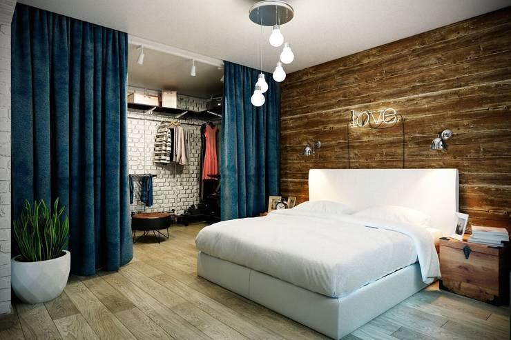industrial Bedroom by CO:interior