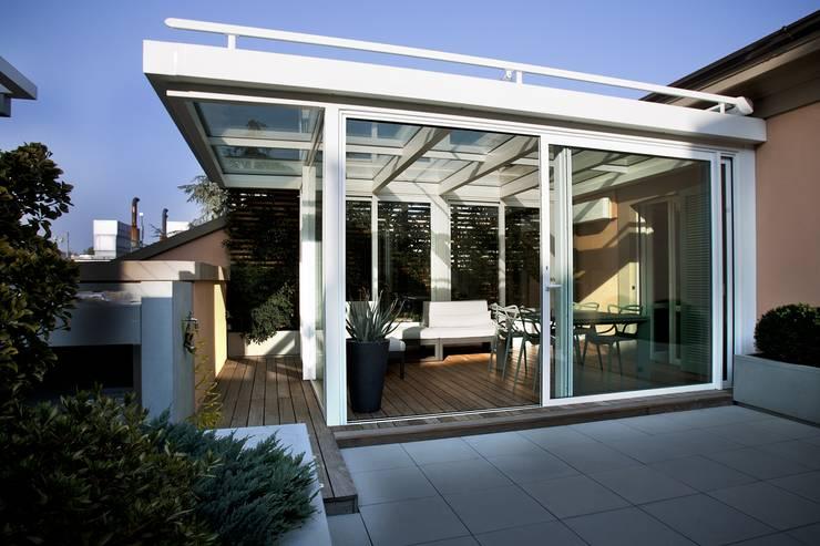 9 verande spettacolari per il tuo terrazzo - Struttura in ferro per casa ...