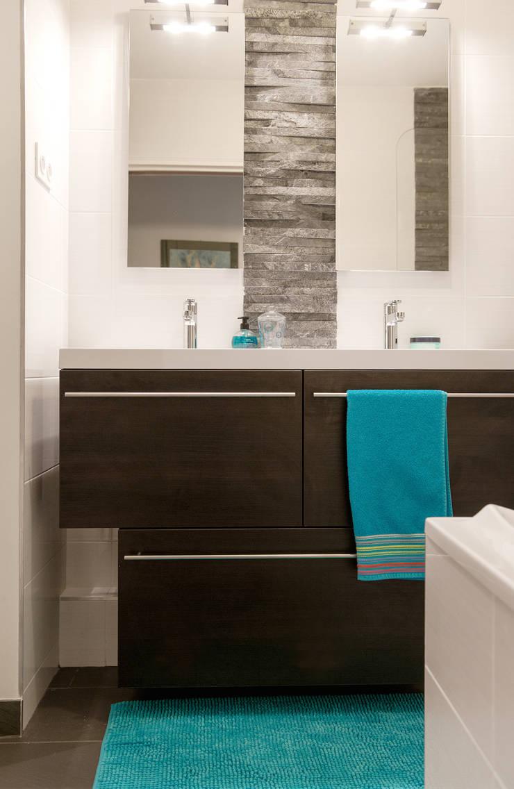 Une salle de bains à l'ambiance masculine by Am by Annie Mazuy ...