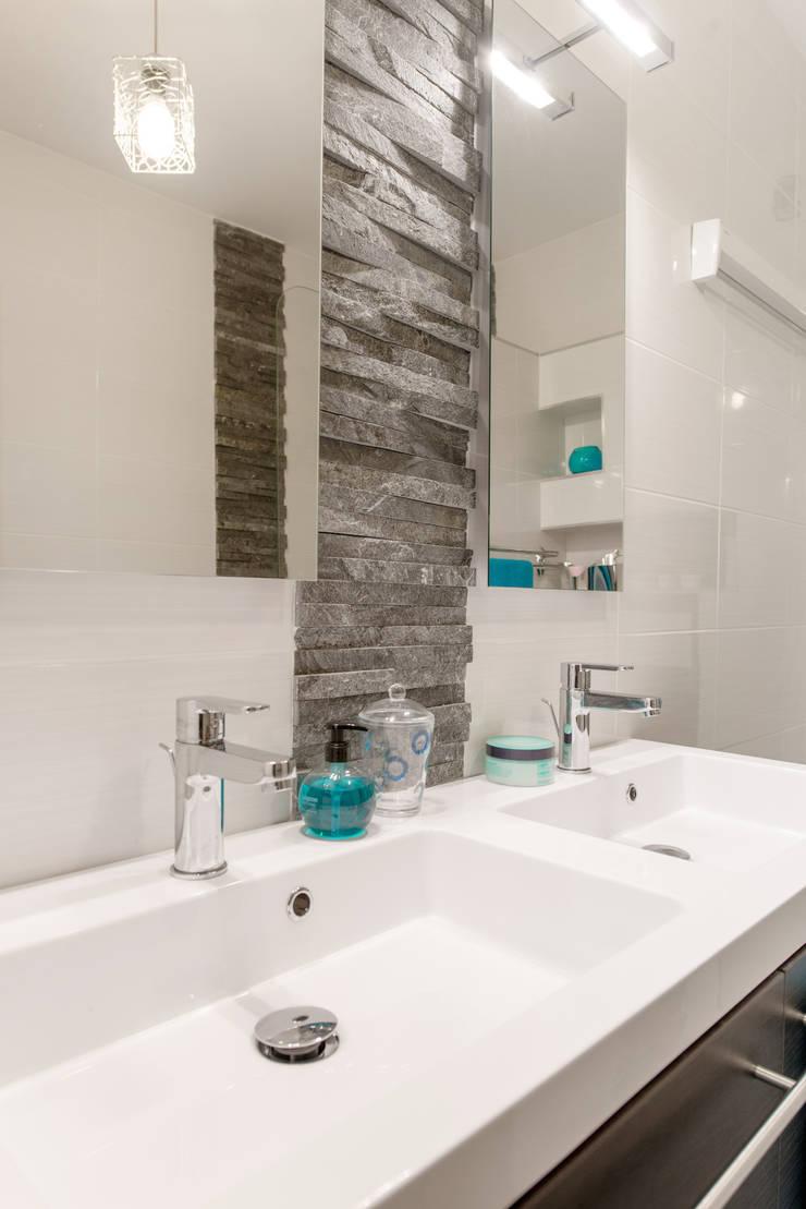 salle de bains double vasque ardoise bleu - Salle De Bain Ardoise Et Pierre