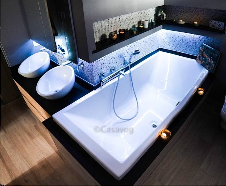 r alisation d 39 une salle de bains dans 6 m2 par casavog homify. Black Bedroom Furniture Sets. Home Design Ideas