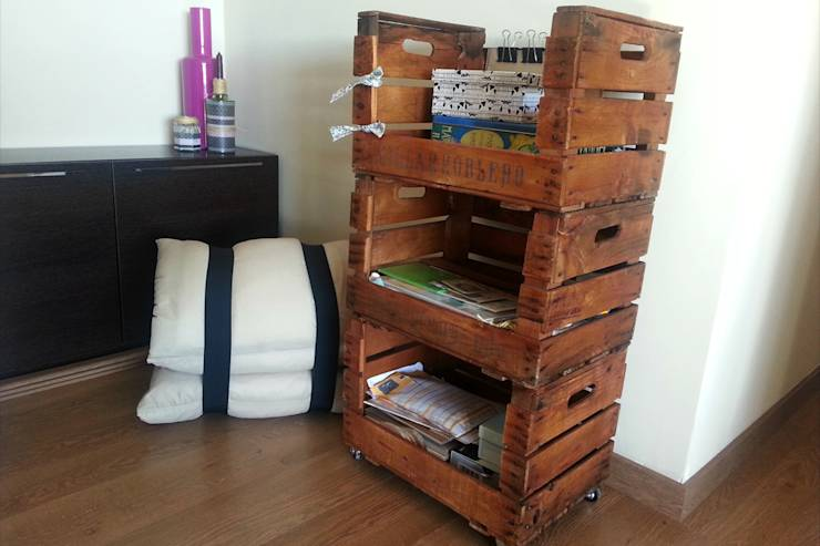 Ideas diy decoraci n sostenible con cajas de fruta - Estanterias con cajas de fruta ...