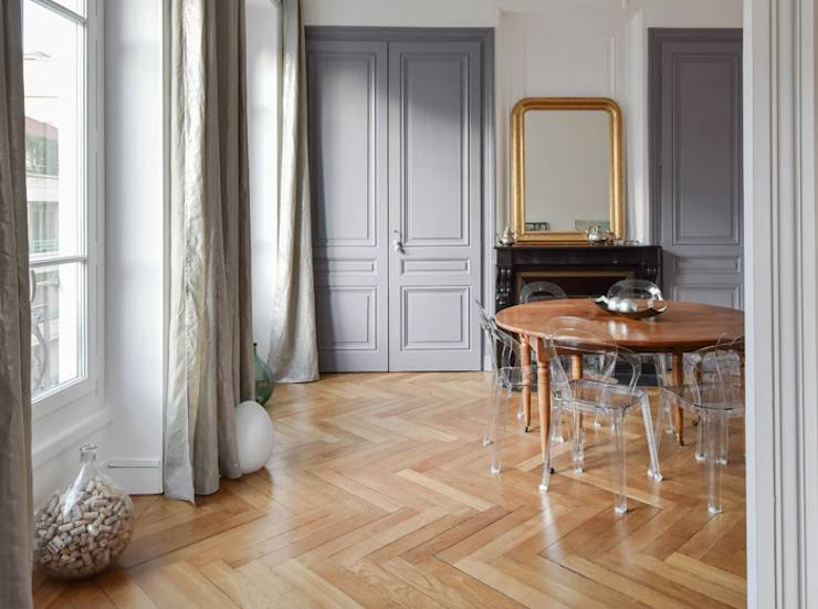 r novation d 39 un appartement haussmannien lyon 06 par marion lano architecte d 39 int rieur homify. Black Bedroom Furniture Sets. Home Design Ideas