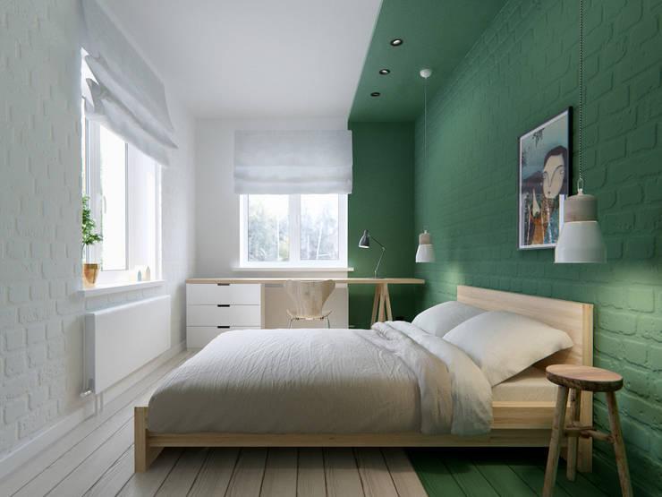 Camera da letto in stile in stile Scandinavo di INT2architecture