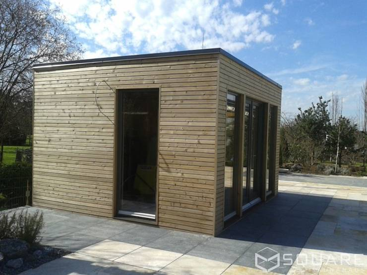 saunahaus square xl als poolhaus mit sauna fassade l rchenholz rhombusprofil von square. Black Bedroom Furniture Sets. Home Design Ideas