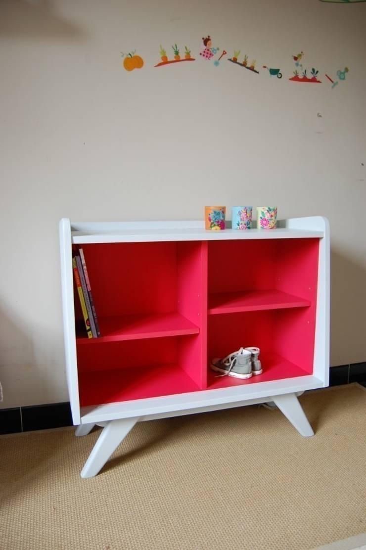 biblioth que basse collection esprit vintage gris manoir et rose clair par banaborose homify. Black Bedroom Furniture Sets. Home Design Ideas
