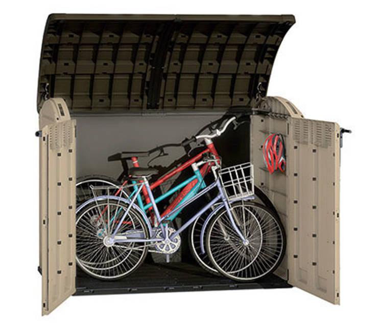 La utilidad de los armarios de exterior for Casetas para guardar bicicletas