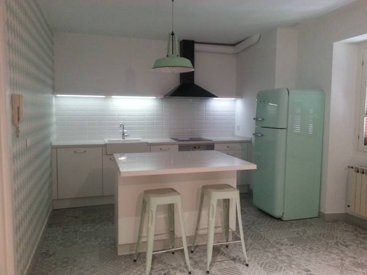 10 fant sticas cocinas vintage for Mueble cocina 70