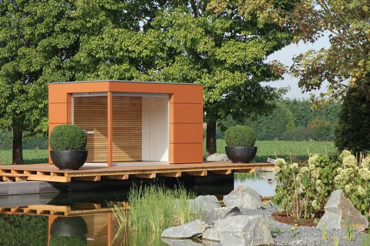moderne gartenh user. Black Bedroom Furniture Sets. Home Design Ideas