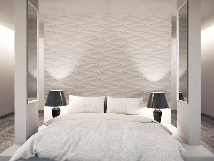 moderne Wandgestaltung Wandschablone Wände streichen Farbe auftragen