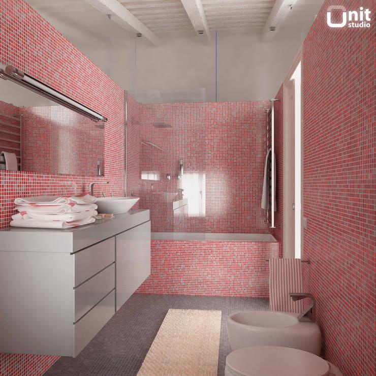 Idee per il bagno via la vasca per un box doccia moderno - Bagno in muratura moderno ...