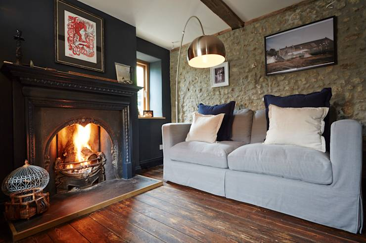 Salon de style de stile Rural par Hart Design and Construction