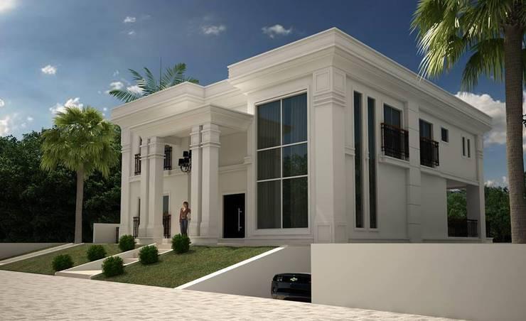 casa neoclassica moderna por tra o final arquitetura e