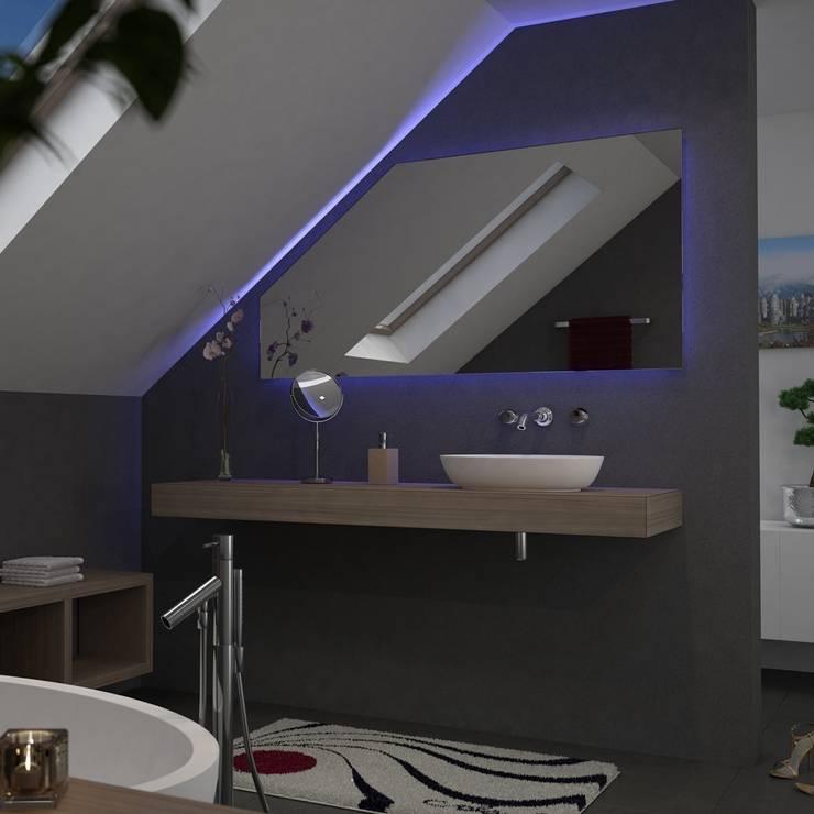 spiegel f r dachschr gen von lionidas gmbh homify. Black Bedroom Furniture Sets. Home Design Ideas