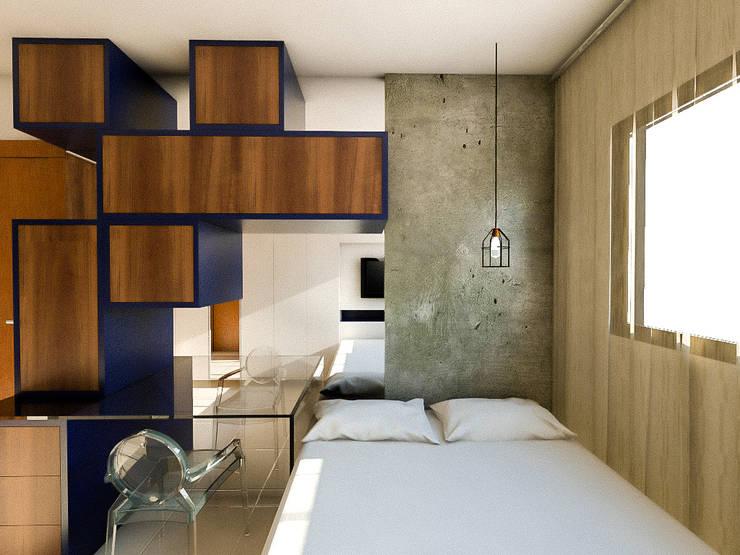 translation missing: id.style.kamar-tidur.modern Kamar Tidur by 285 arquitetura e urbanismo