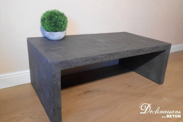 table basse beton mineral. Black Bedroom Furniture Sets. Home Design Ideas