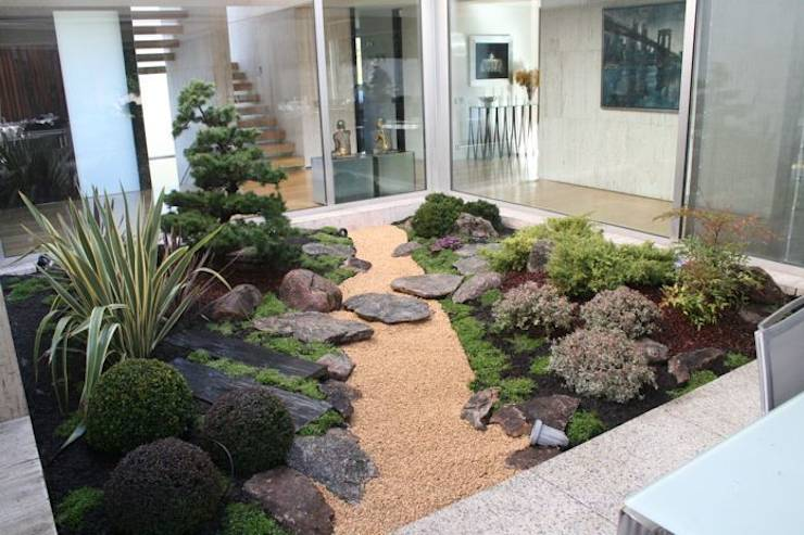 Jardines orientales interiores for Jardin estilo japones