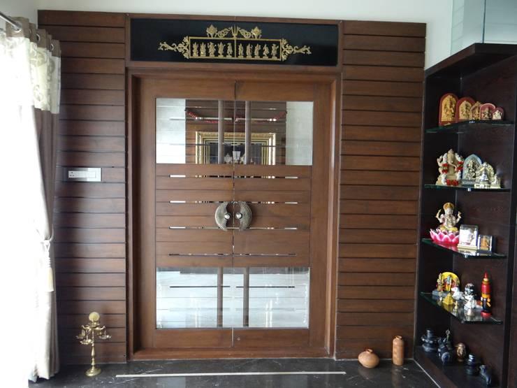 8 essential vastu features for every pooja space for Pooja room entrance door designs
