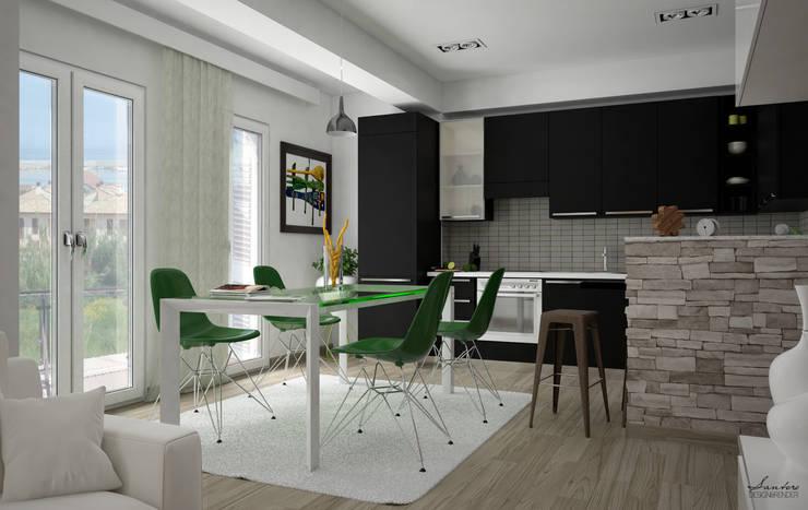 Render e soluzione: Cucina in stile in stile Moderno di Santoro Design ...