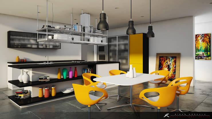 Cocinas de estilo moderno por SK Architectural Visualization