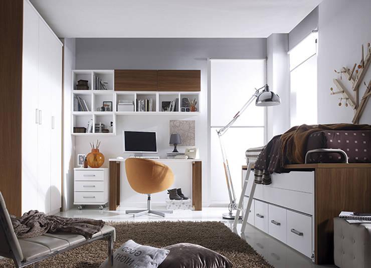 Fantastyczne pomys y na pokoje m odzie owe for Dormitorio blanco y madera