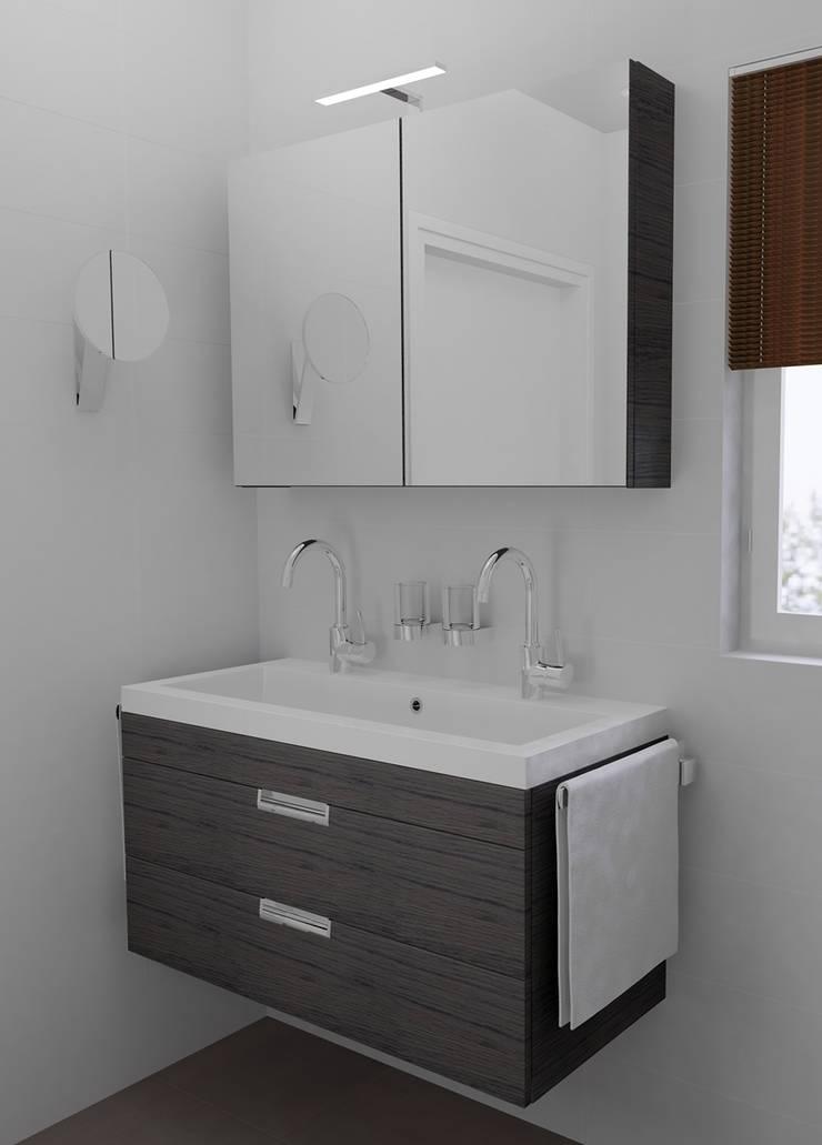 Kleine badkamer ontwerpen door sani bouw homify - Kleine betegelde badkamer ...