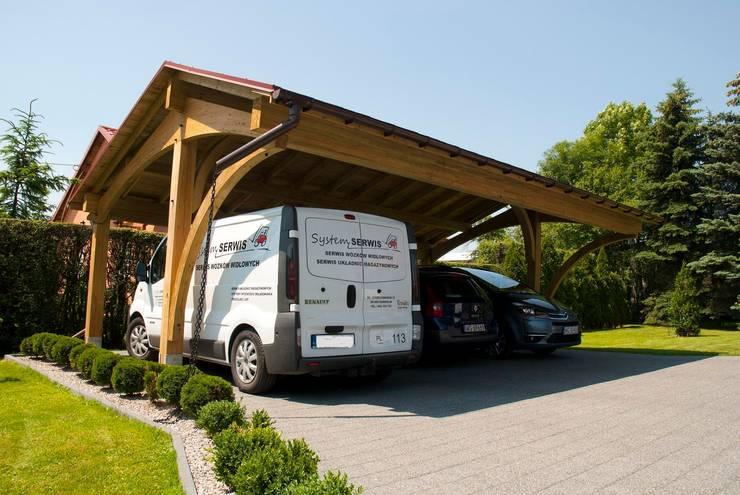 5 estilos para garajes de madera
