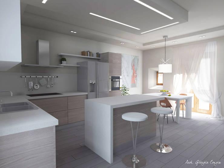 Progetto arredamento di interni: Cucina in stile in stile Mediterraneo ...
