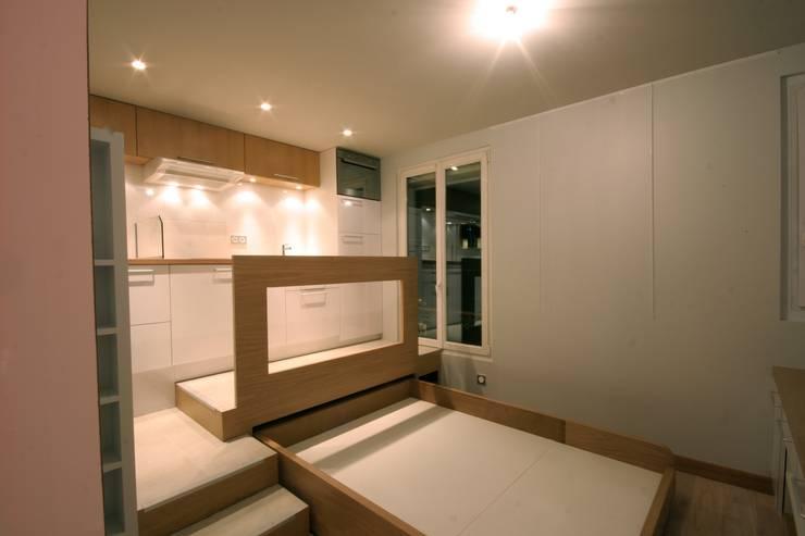 comment amenager 16m2. Black Bedroom Furniture Sets. Home Design Ideas