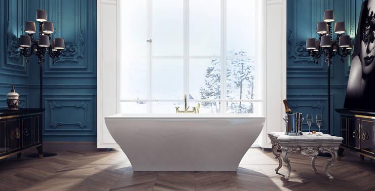 Чувственный барокко: Ванные комнаты в translation missing: ru.style.Ванные-комнаты.klassicheskiy. Автор - VITTA-GROUP