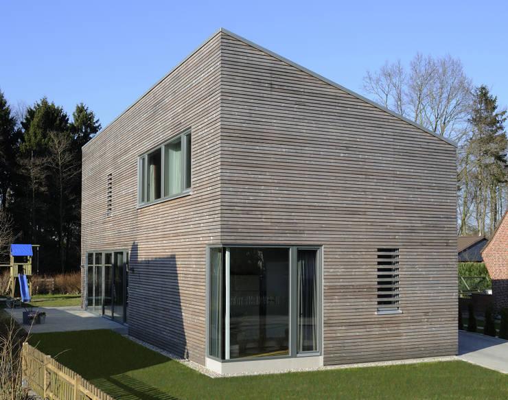 Ansicht giebel moderne häuser von jebens schoof architekten